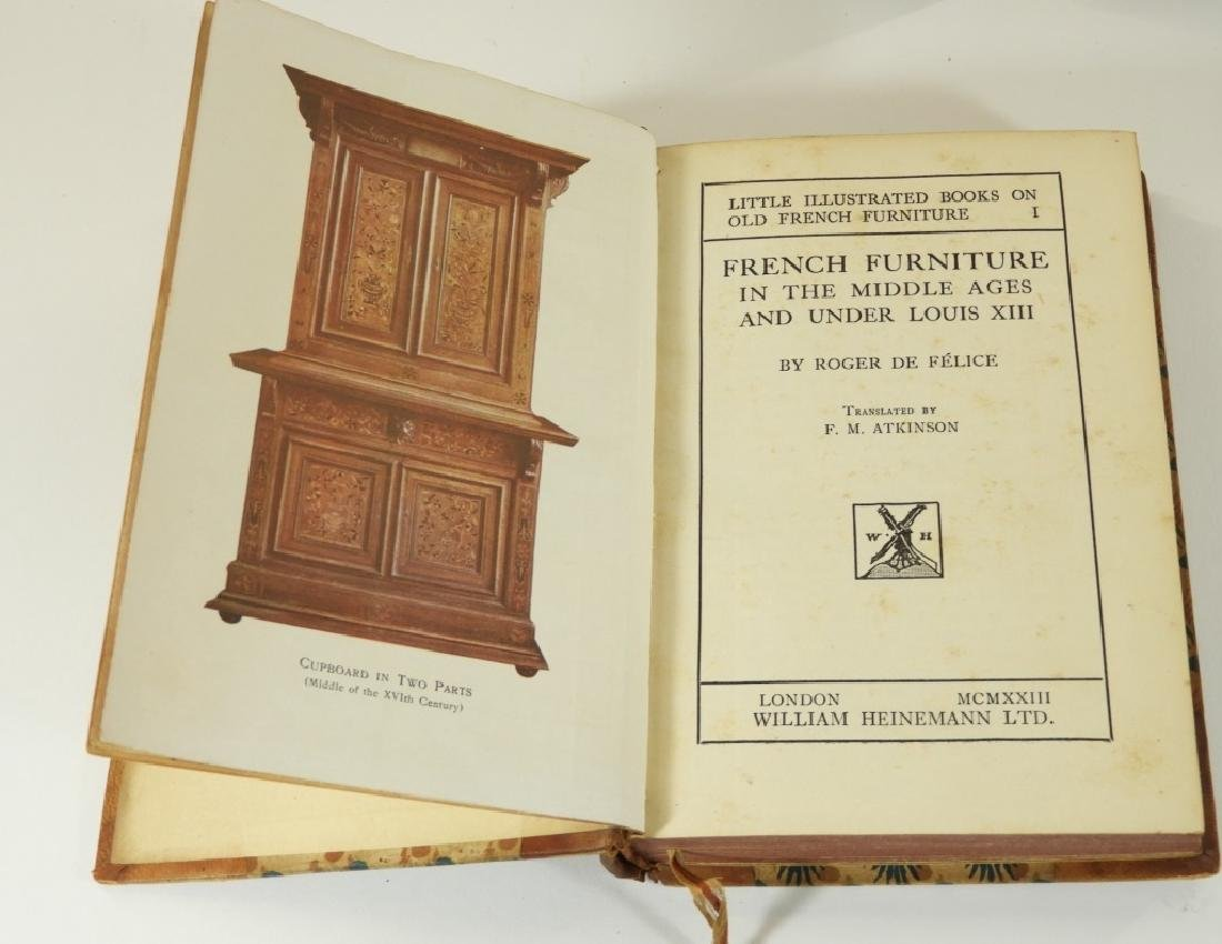 4 Vol. King Louis France French Furniture Books - 4