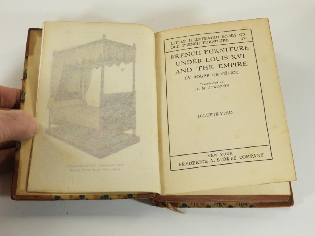 4 Vol. King Louis France French Furniture Books - 7