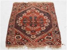 C.1900 Caucasian Kazak Hand Made Geometric Rug