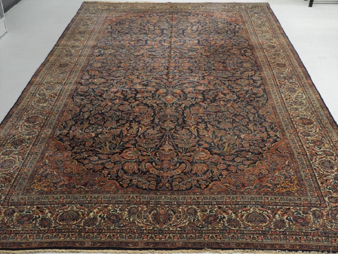 LG Persian Keshan Wool Carpet Rug