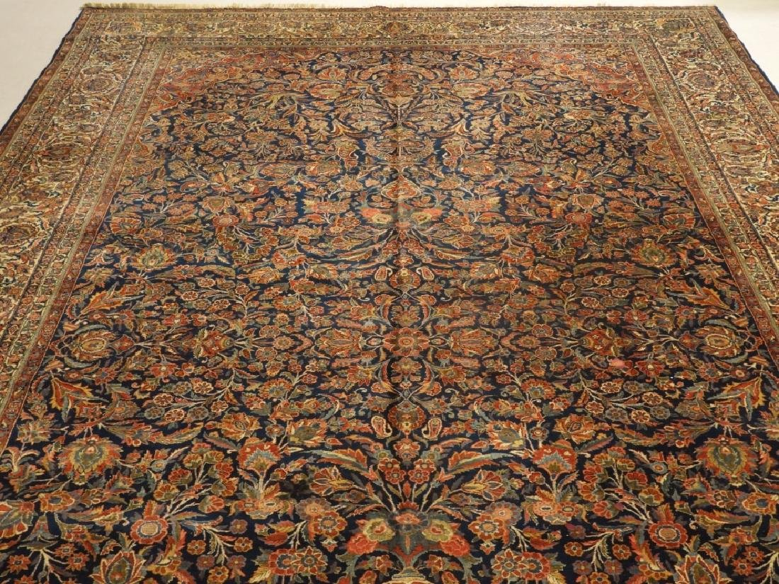 LG Persian Keshan Wool Carpet Rug - 2