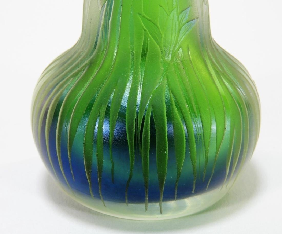 Dan Shura for Orient & Flume Cameo Glass Vase - 5