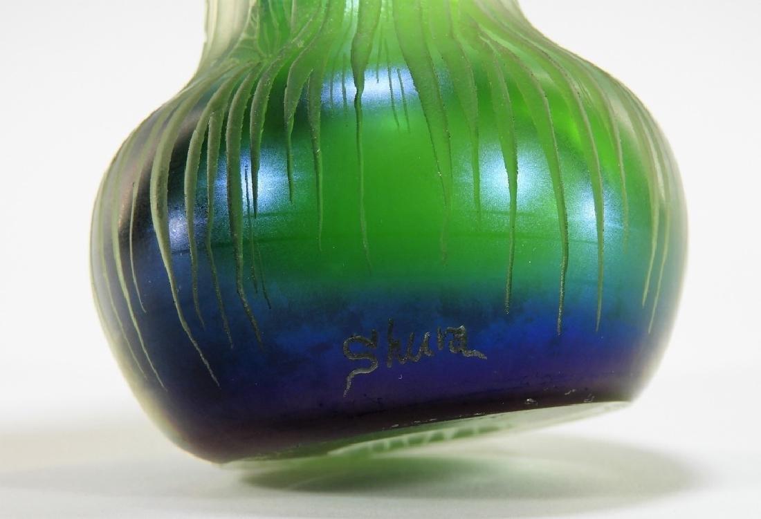 Dan Shura for Orient & Flume Cameo Glass Vase - 7