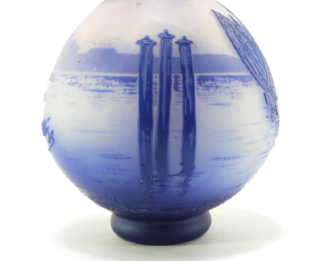 Cristallerie de Pantin DeVez Cameo Glass Vase - 4