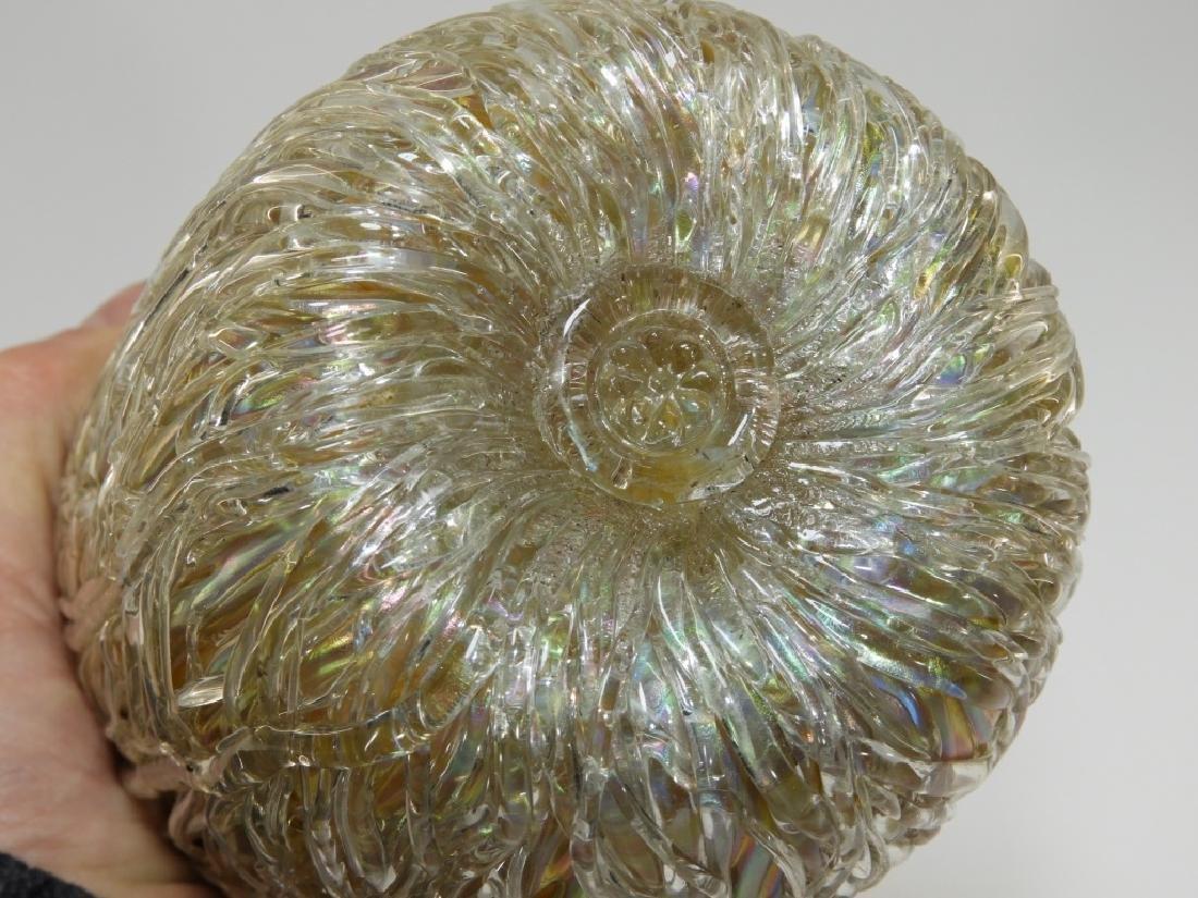 Austrian Iridescent Layered Thread Art Glass Vase - 6