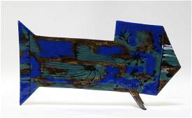 European MCM Blue Turquoise Enamel Copper Fish