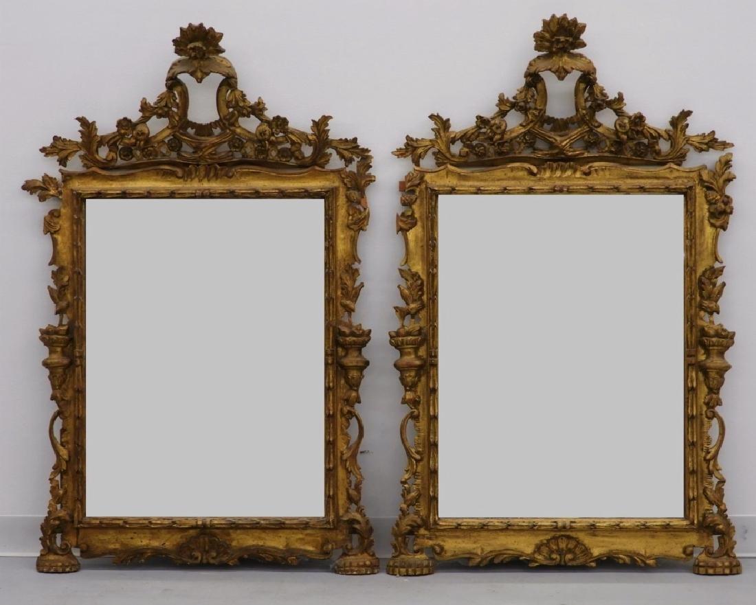 PR Italian Florentine Gilt Chinoiserie Mirror