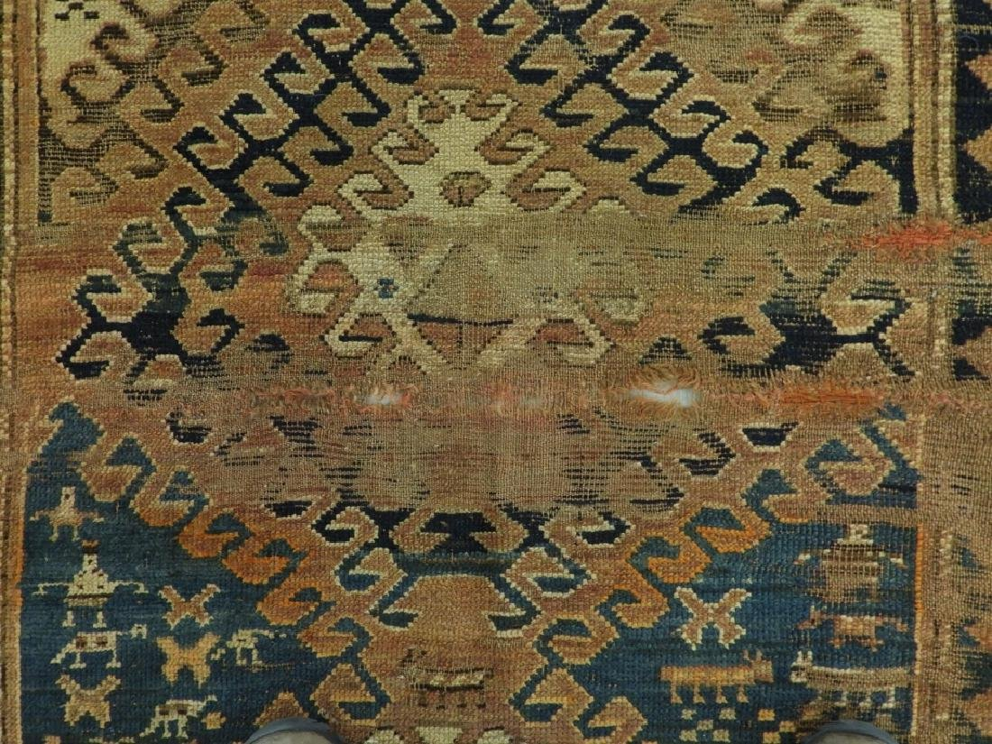 Middle Eastern Kurdish Borchalou Carpet Rug - 10