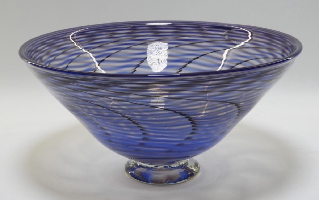 Simon Pearce Signed Studio Art Glass Bowl