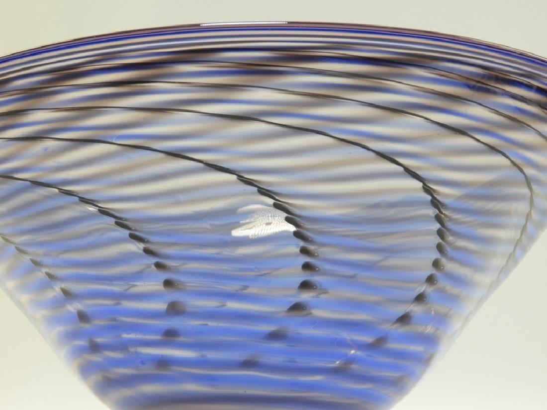 Simon Pearce Signed Studio Art Glass Bowl - 3