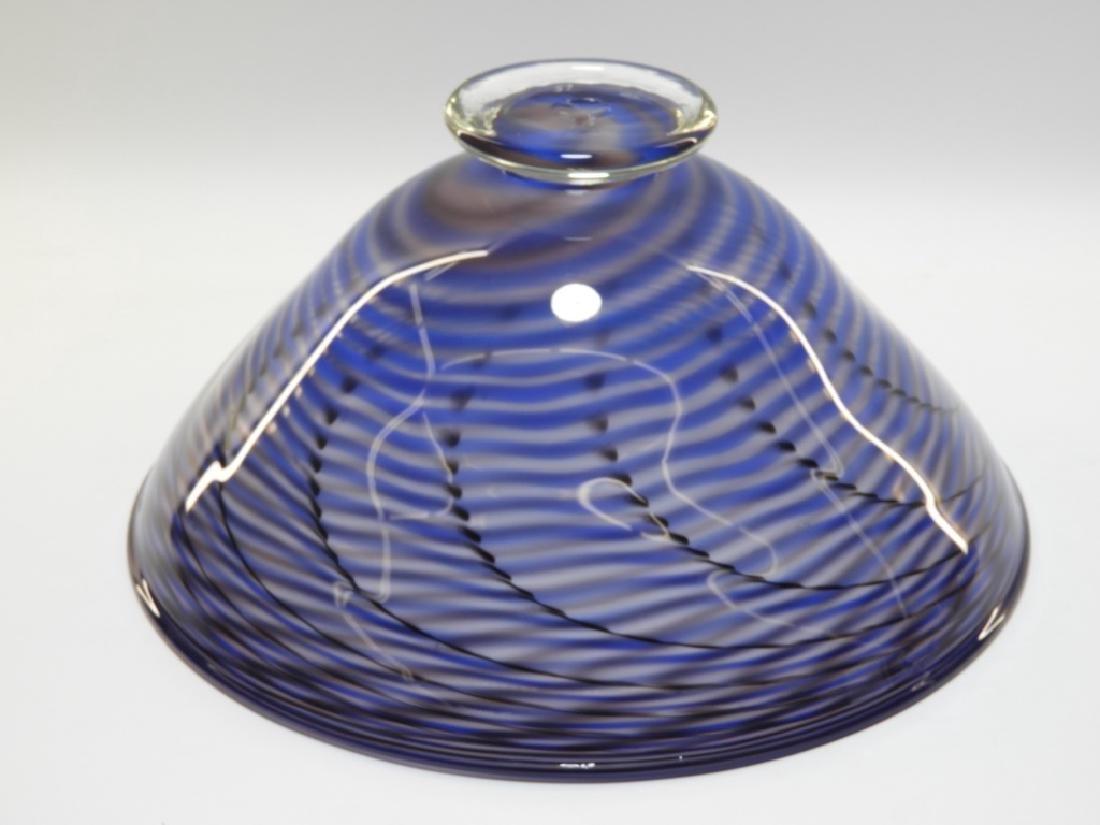 Simon Pearce Signed Studio Art Glass Bowl - 4