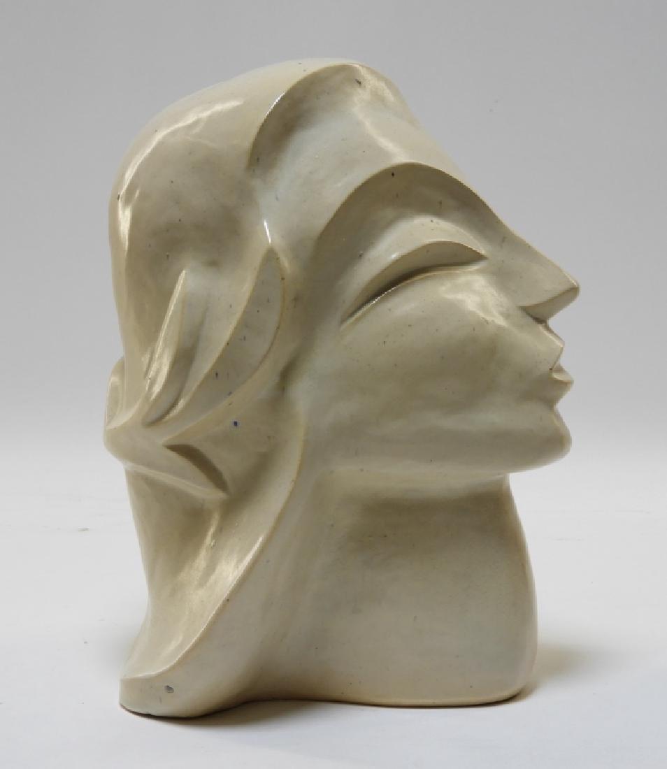 Aft Brancusi Modernist Pottery Muse Head Sculpture - 2