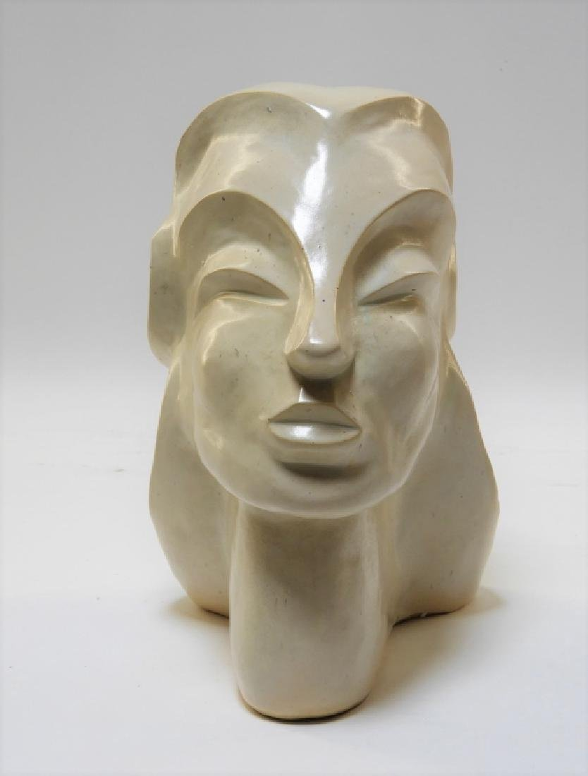 Aft Brancusi Modernist Pottery Muse Head Sculpture - 3