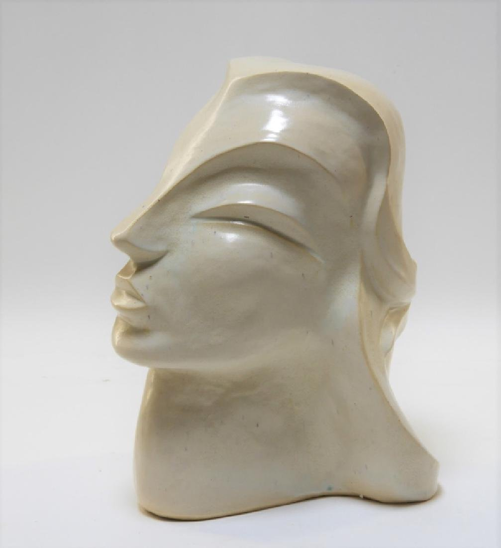 Aft Brancusi Modernist Pottery Muse Head Sculpture - 4
