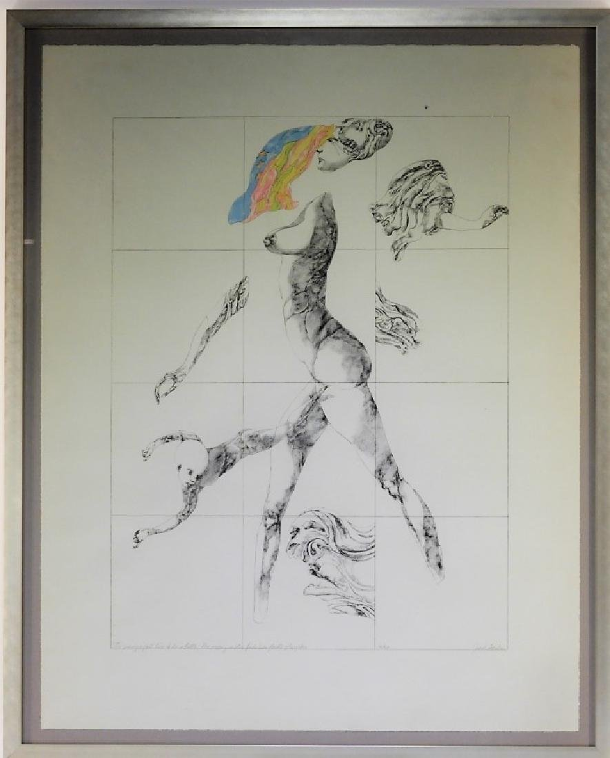 Jacob Landau Surreal Print Dissected Female Nude