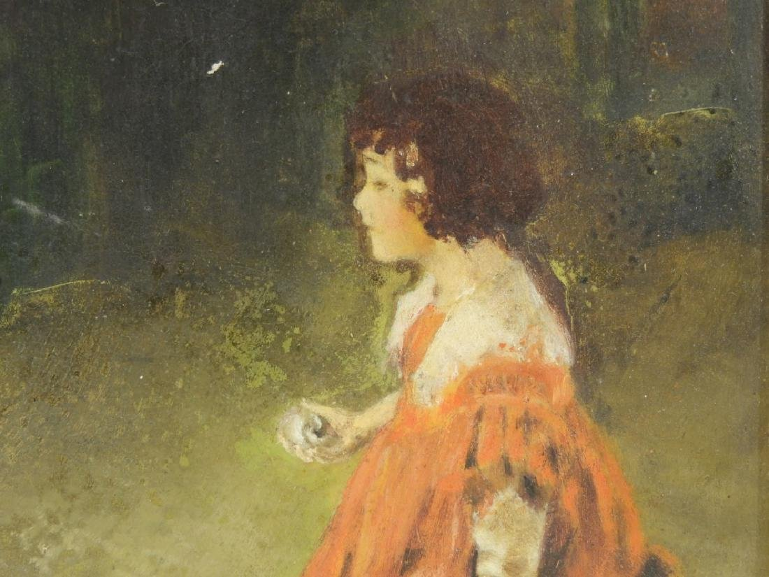 George Wharton Edwards O/B Painting of Girl - 5