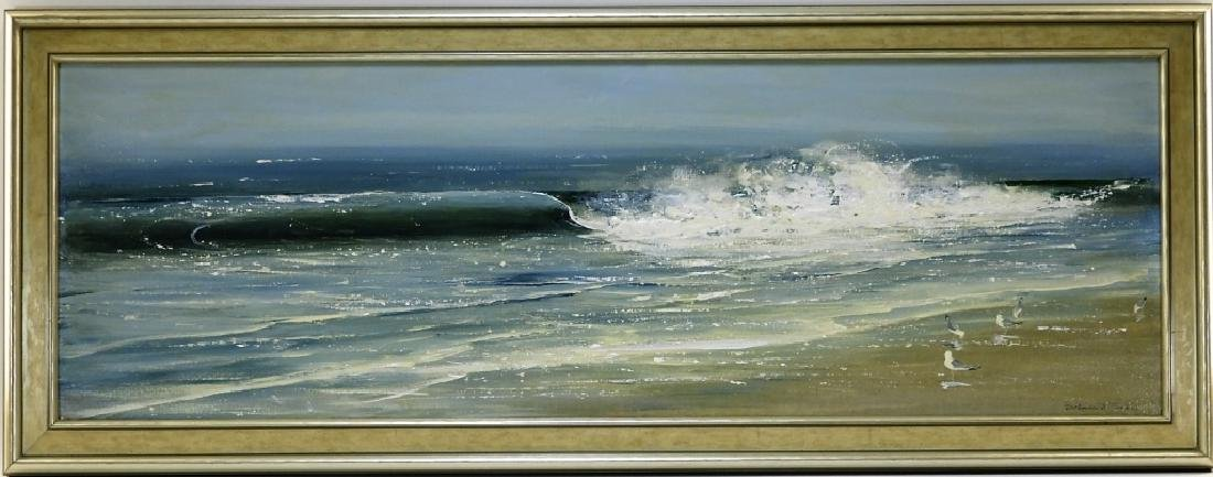 Barbara Cocker Impressionist O/C Seascape Painting