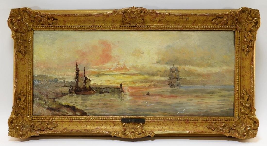 T. Redfern Impressionist O/C Seascape Painting