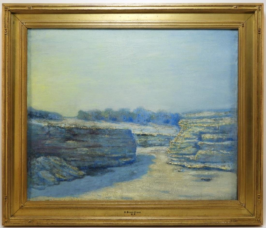 R. Bruce Crane O/C Impressionist Tonal Landscape