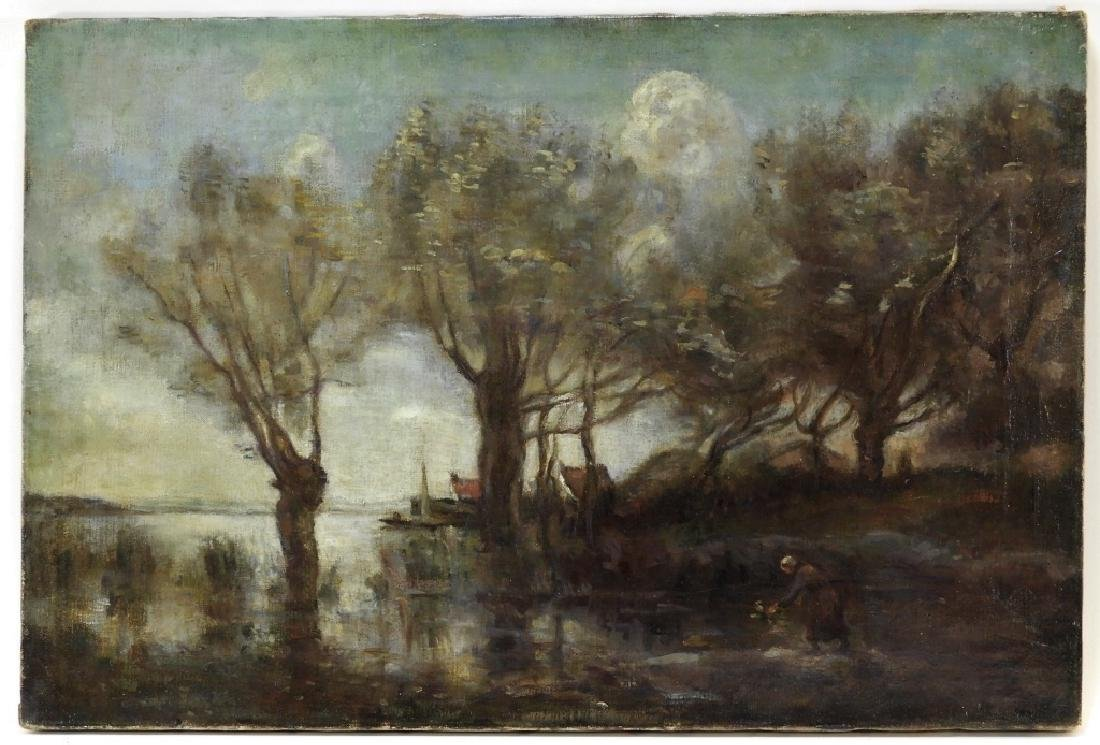 C.1920 French Impressionist Corot School Painting
