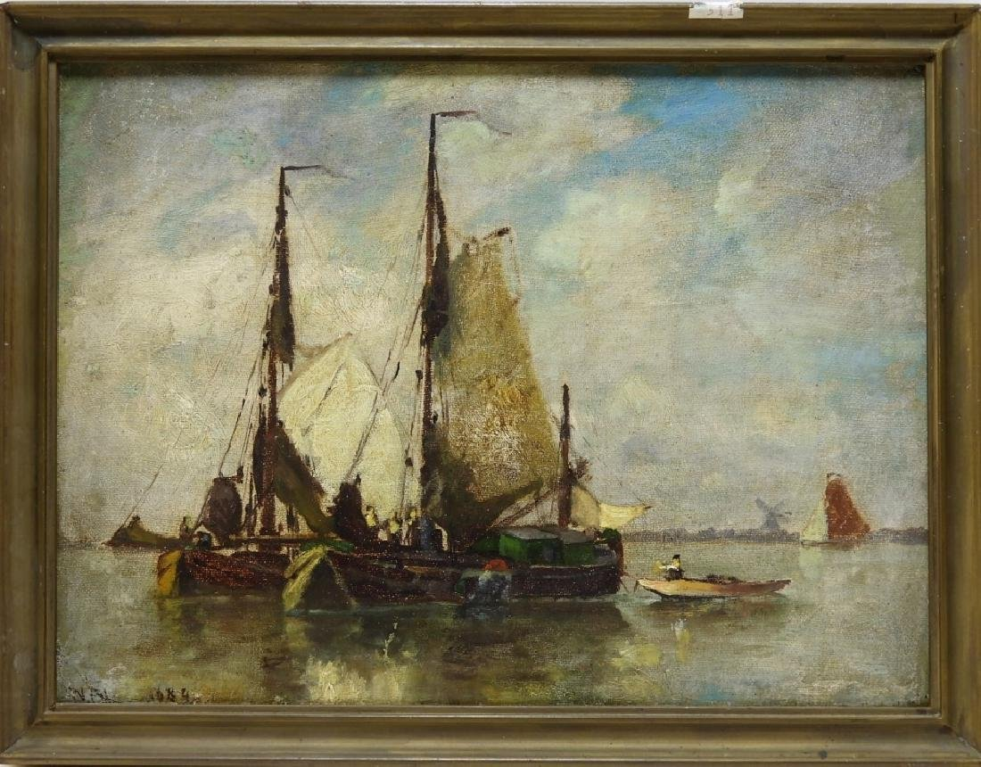Walter Franklin Lansil O/B Impressionist Painting