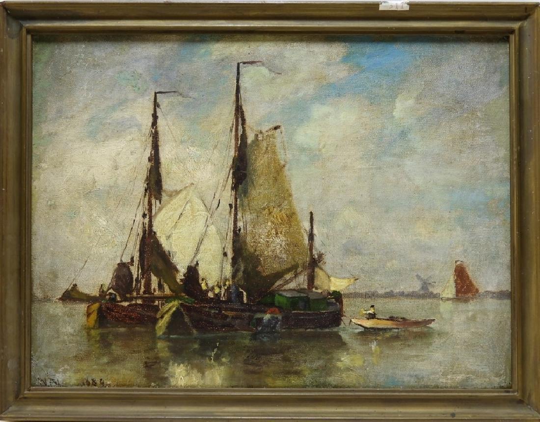 Walter Franklin Lansil O/B Impressionist Painting