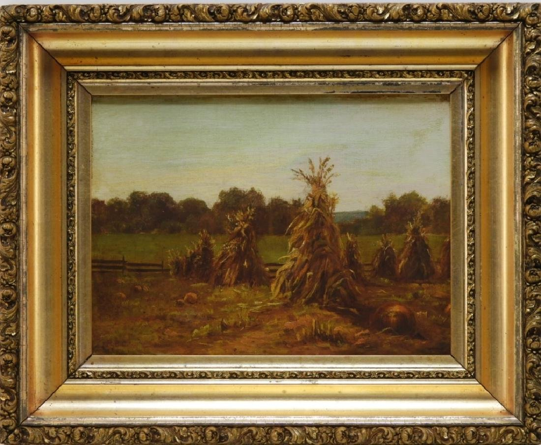 R. Bruce Crane Impressionist Painting of a Pasture