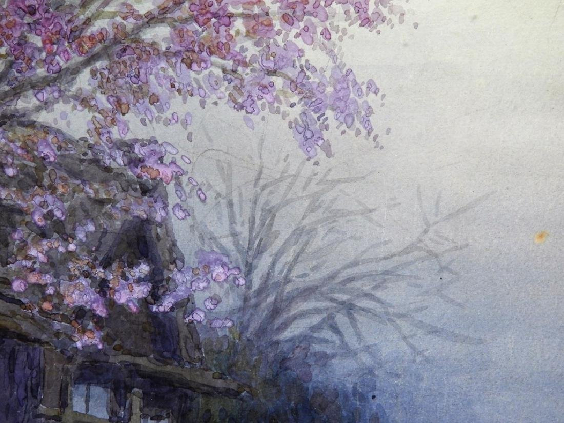 Y. Ito Japanese Wisteria River Landscape Painting - 4