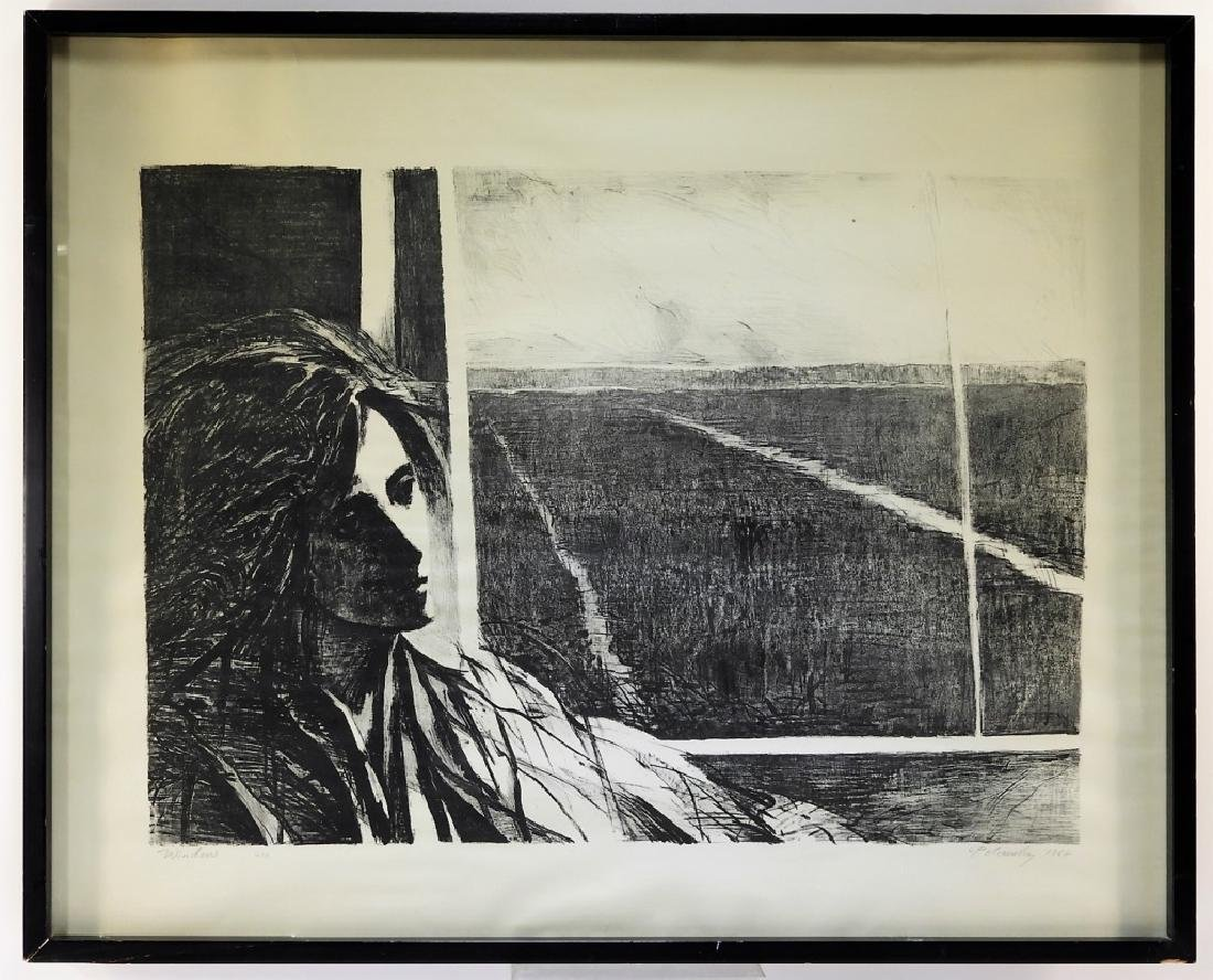 Arthur Polonsky Etching of Woman by a Window