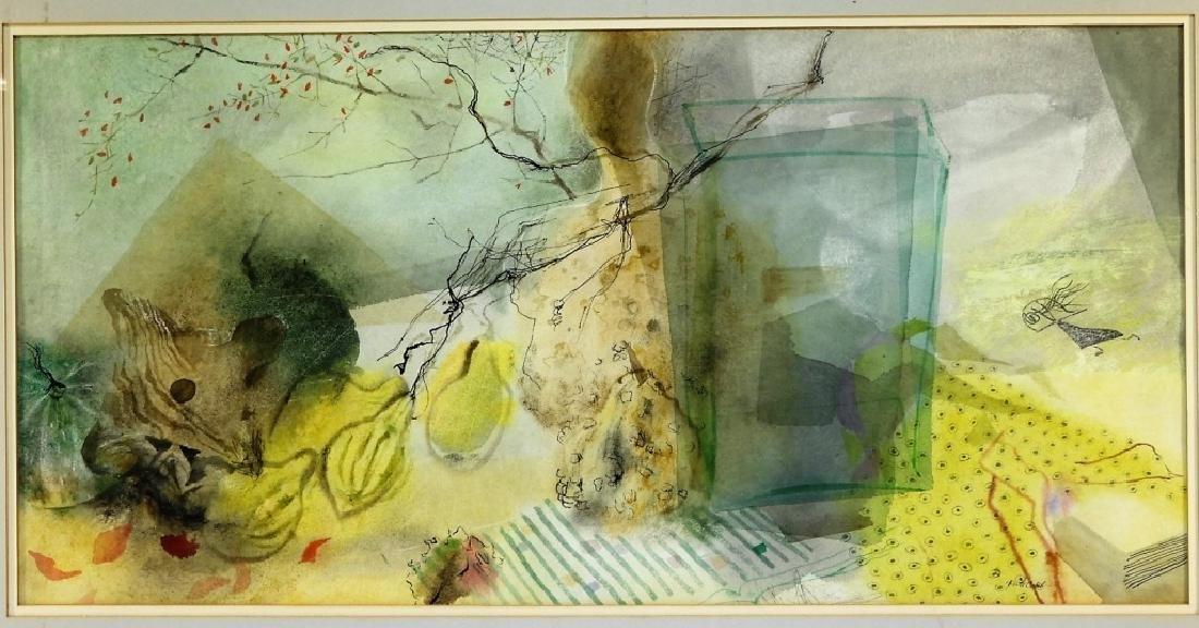 Ruth Cobb Winter Light Still Life W/C Painting