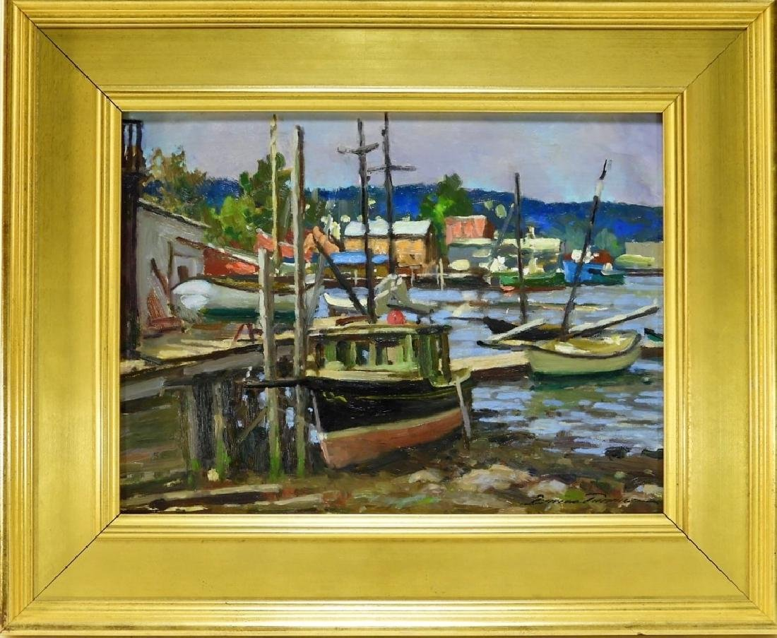 Bruce Backman Turner MA Seascape Oil Painting