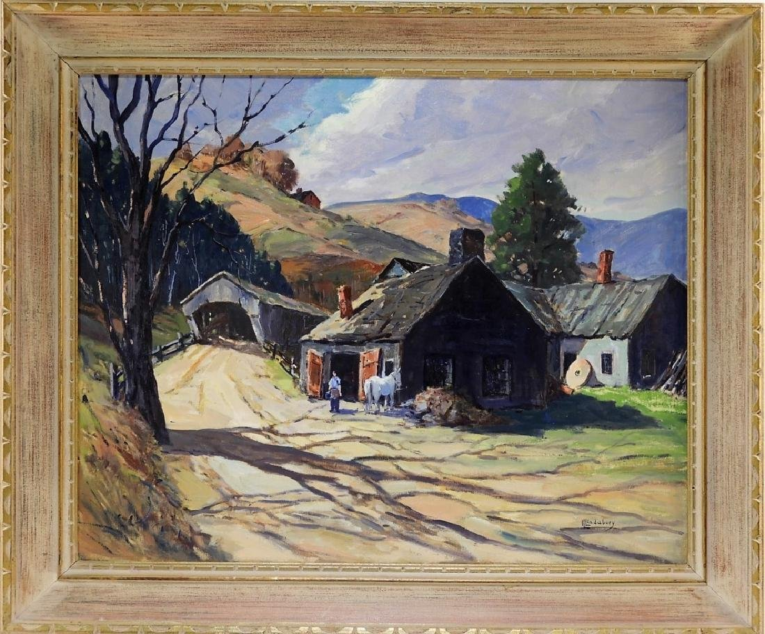Irvin Lindabury Impressionist Landscape Painting