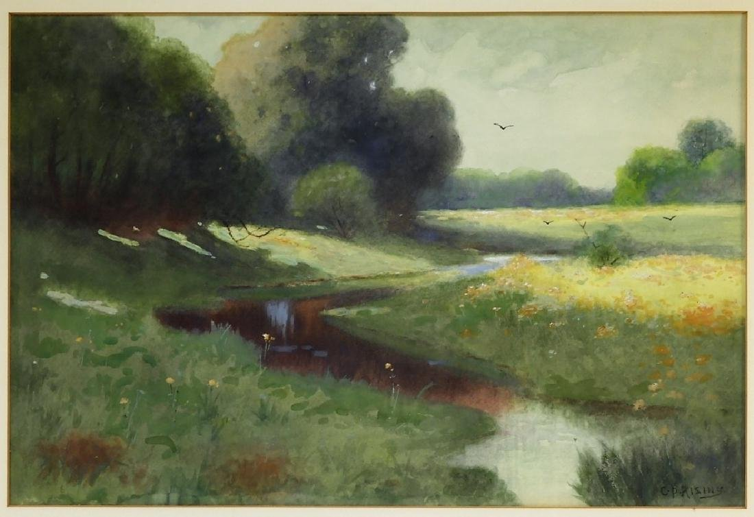 C.P Rising Spring Floral Stream Meadow Painting