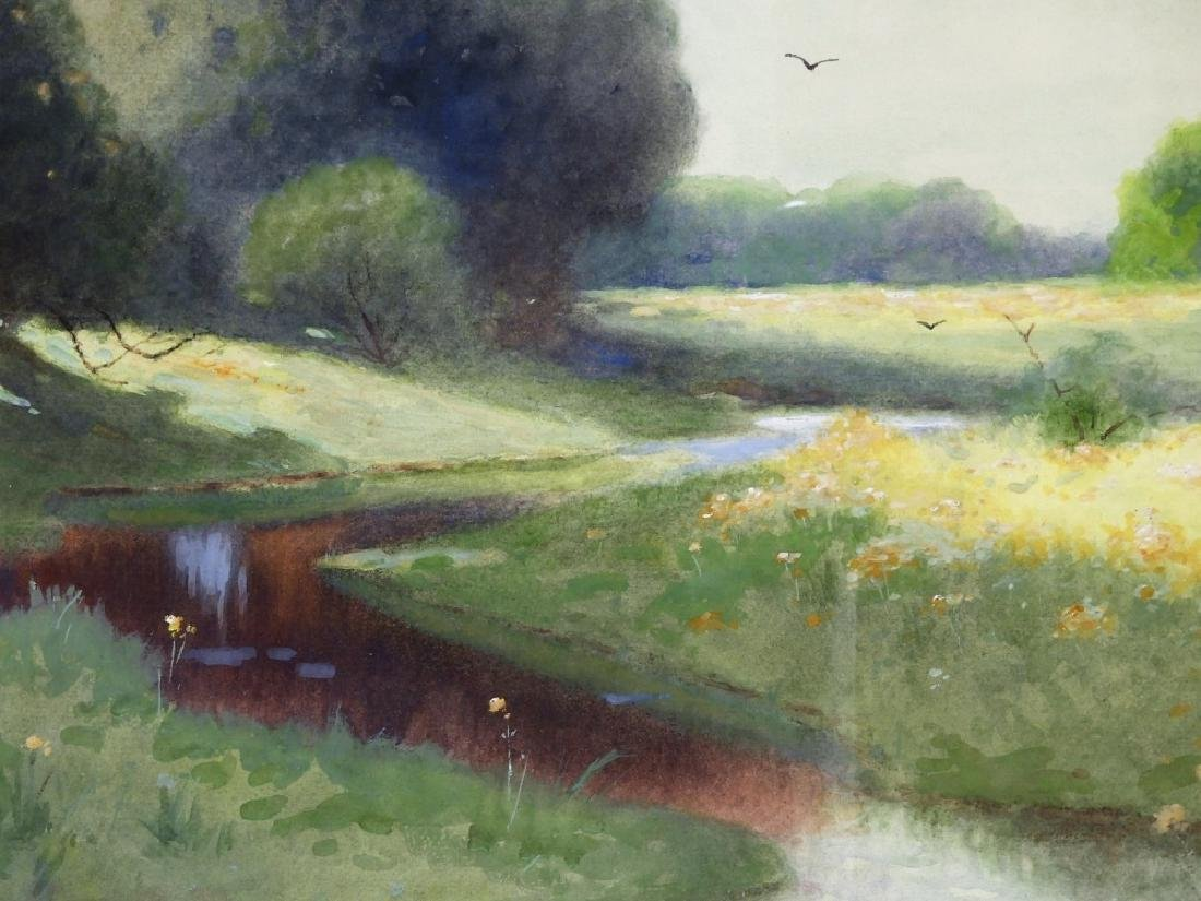 C.P Rising Spring Floral Stream Meadow Painting - 3