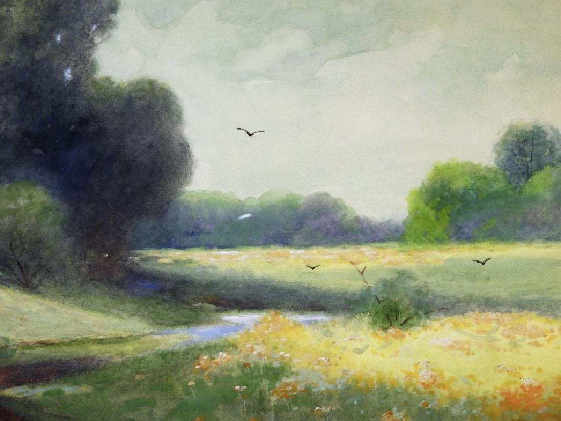C.P Rising Spring Floral Stream Meadow Painting - 4