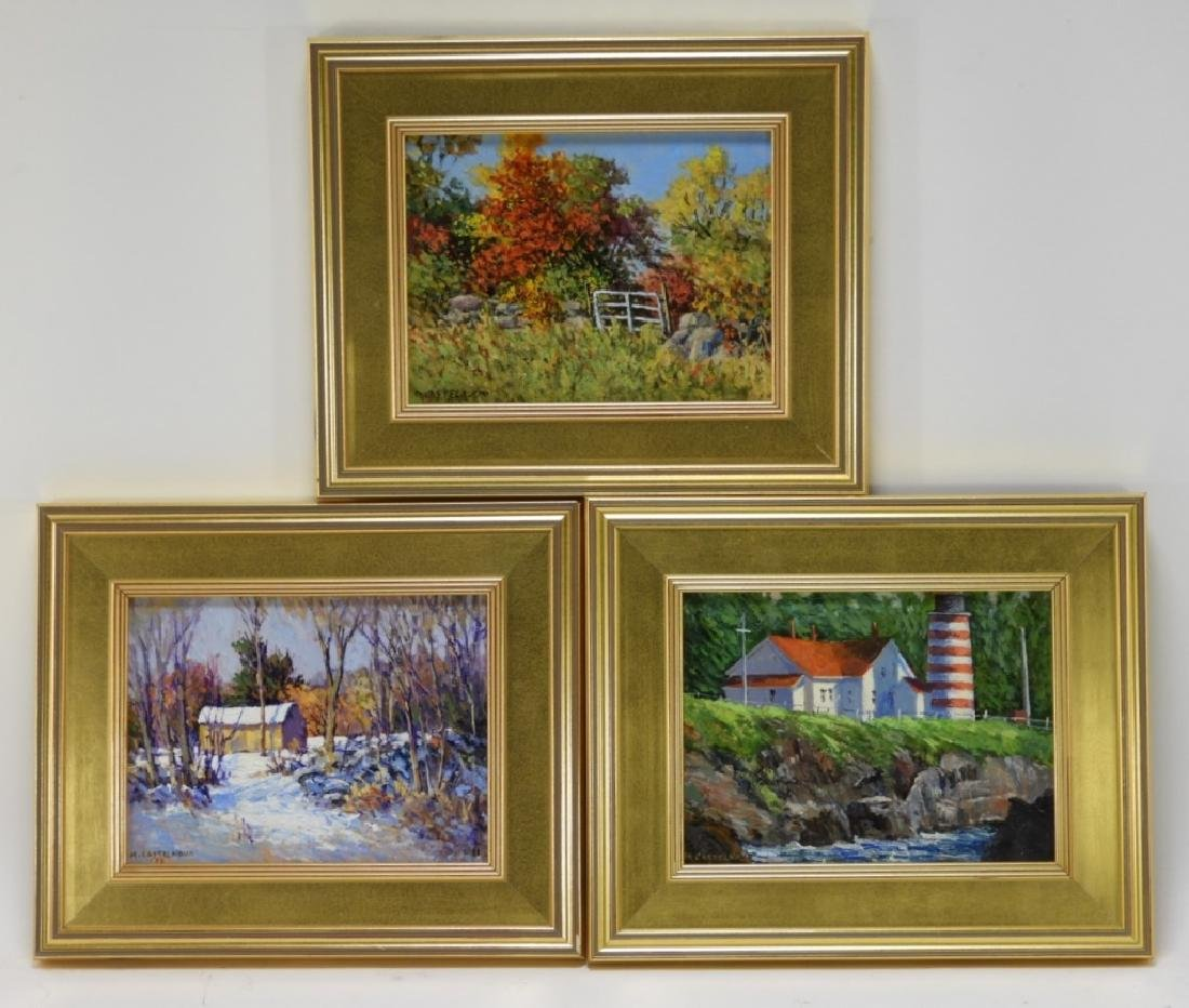 Mary Castelnovo O/B Landscape Paintings Grouping