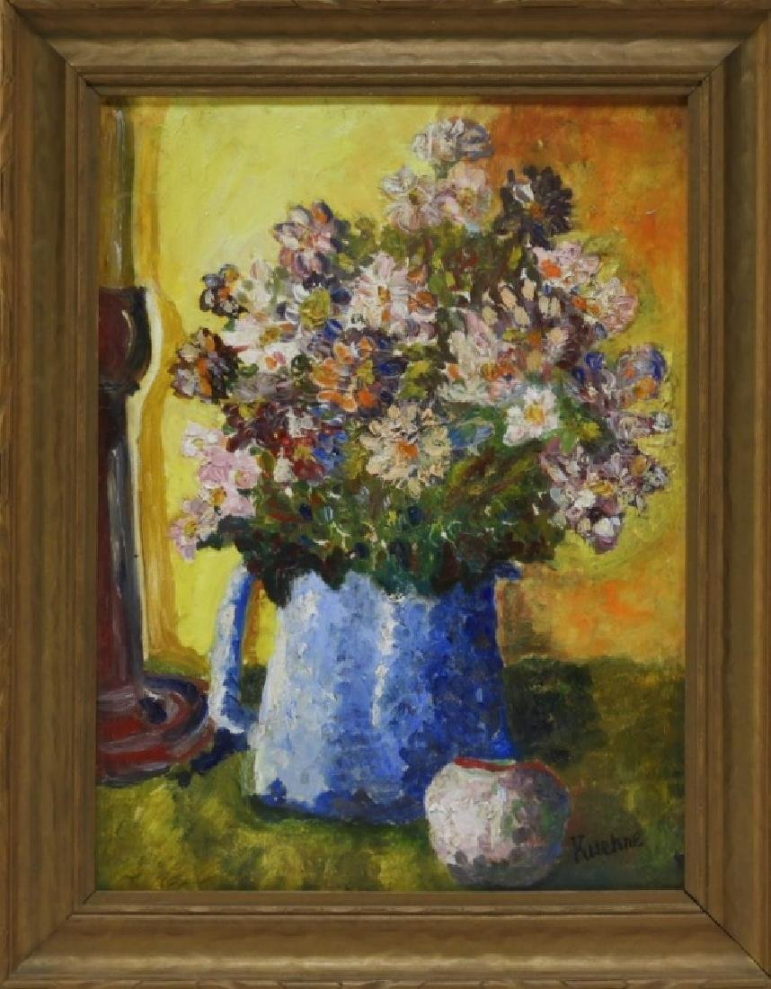 Max Kuehne American Expressionist Floral Painting
