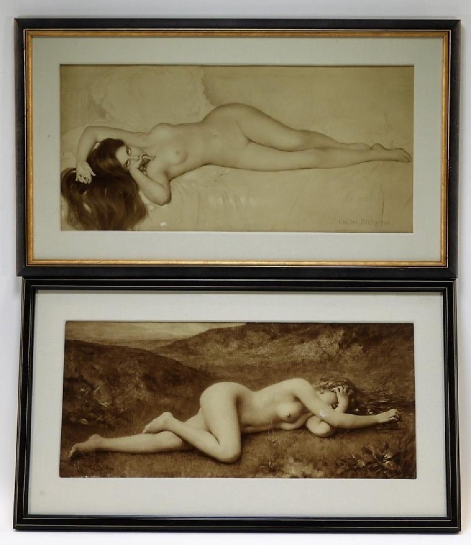 A.Chantron G. Brisgand Nude Chromolithographs