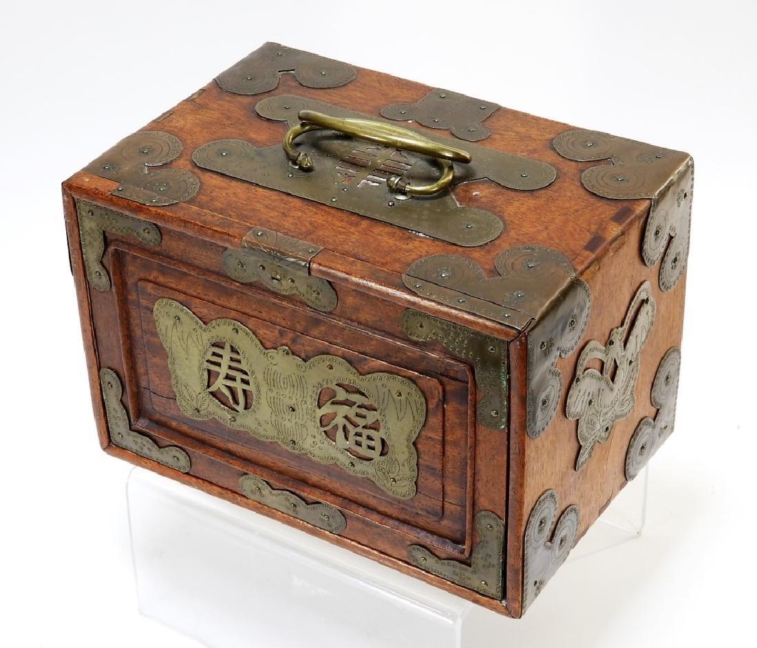 Chinese Carved Bone Huanghuali Box Mahjong Set - 6