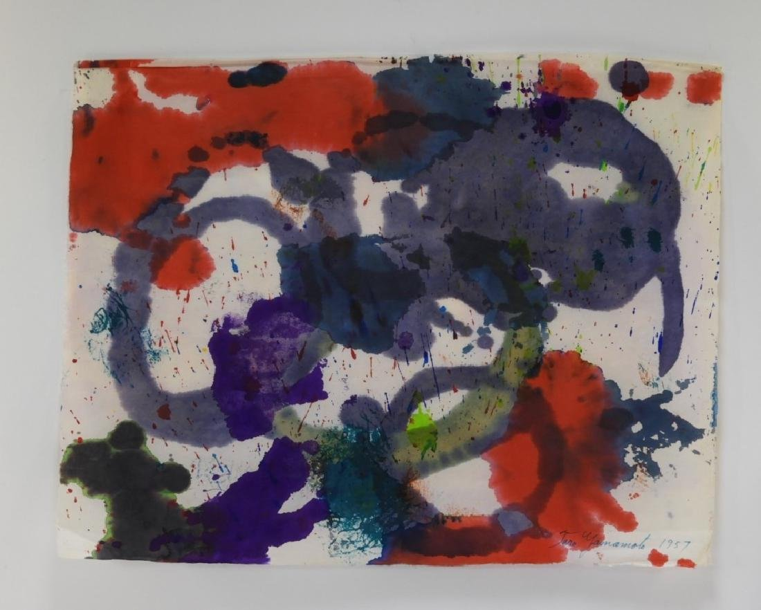 Taro Yamamoto Abstract Expressionist WC Painting - 2