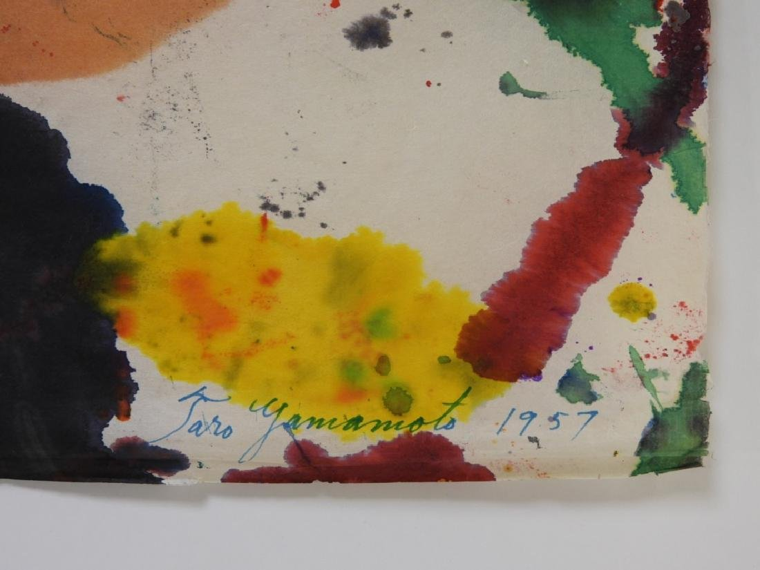 Taro Yamamoto Abstract Expressionist WC Painting - 5