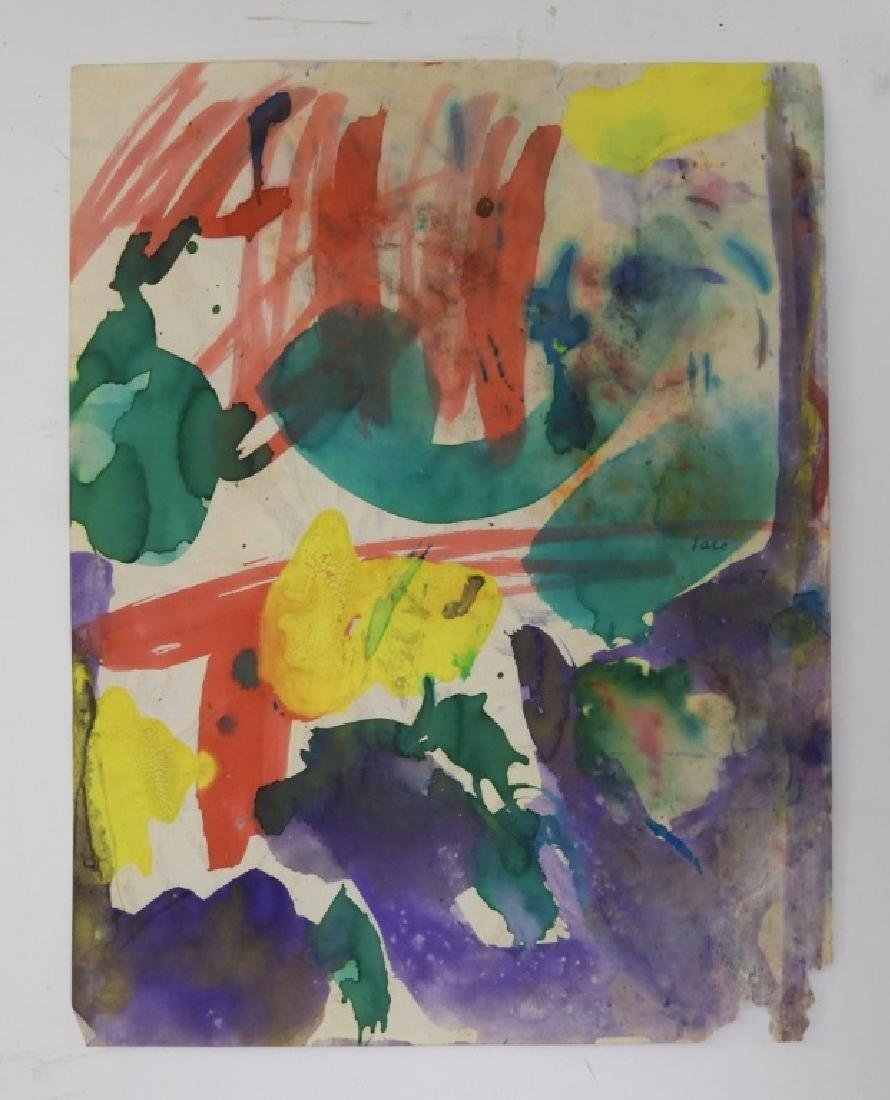6 Taro Yamamoto Abstract Expressionist WC Painting - 3