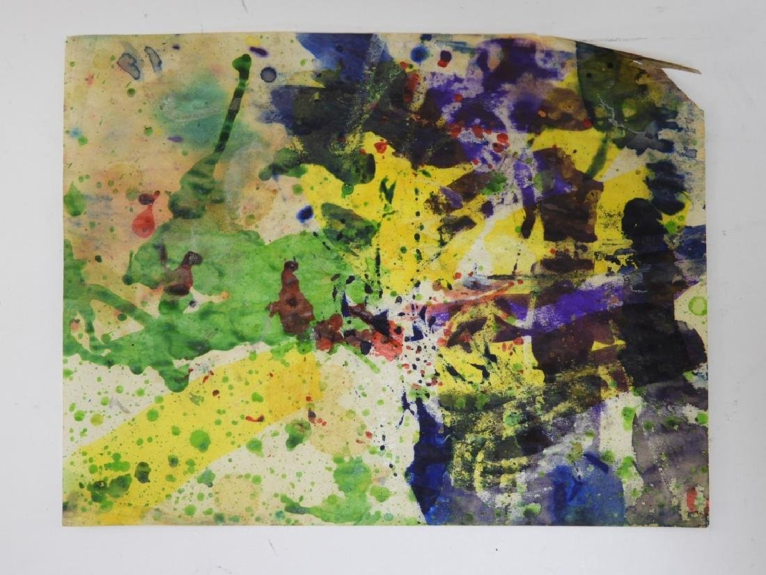 6 Taro Yamamoto Abstract Expressionist WC Painting - 4