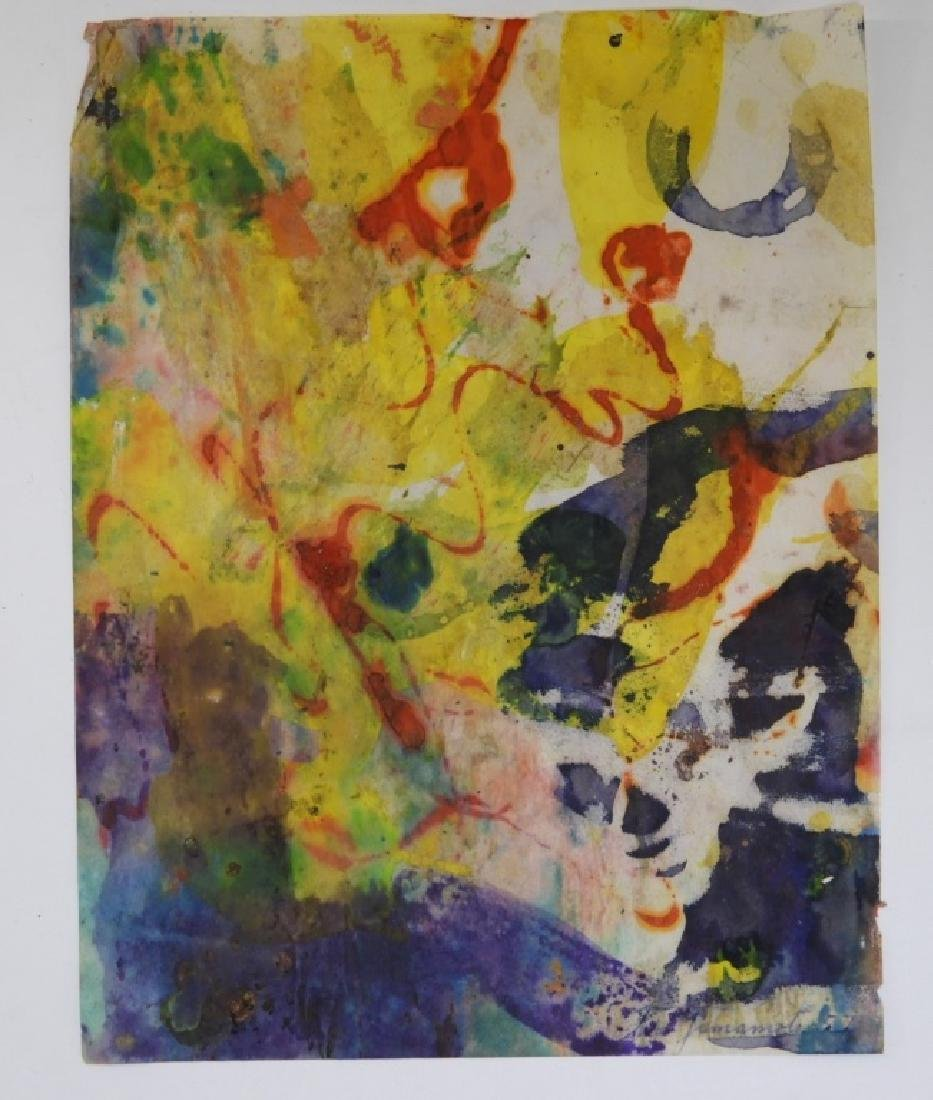 6 Taro Yamamoto Abstract Expressionist WC Painting - 7