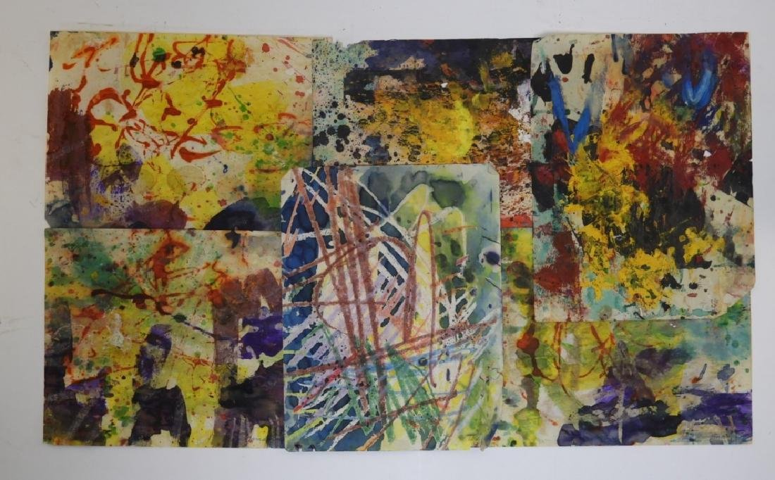 6 Taro Yamamoto Abstract Expressionist WC Painting