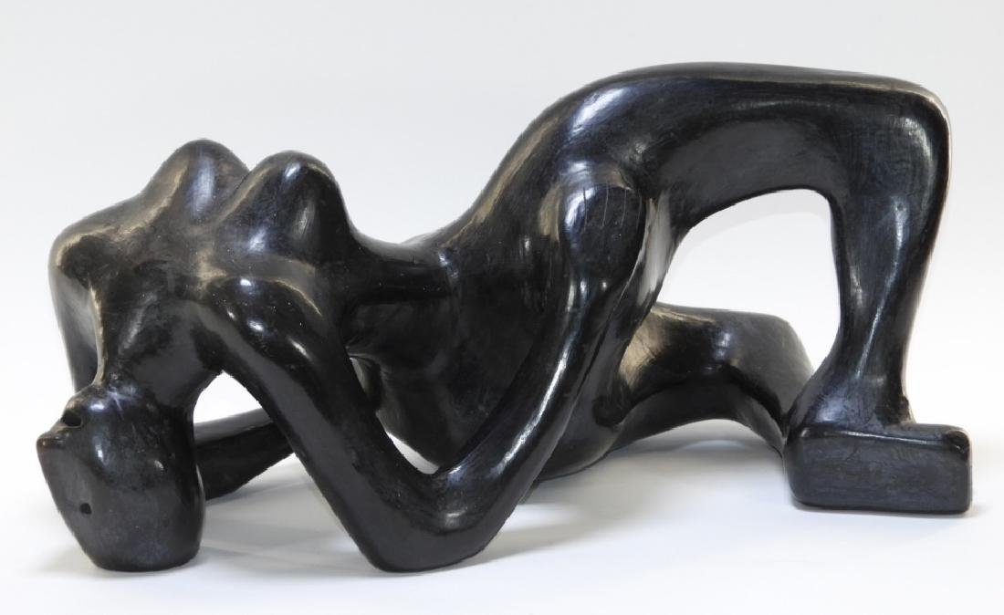 Abstract Ceramic Reclining Female Nude Sculpture