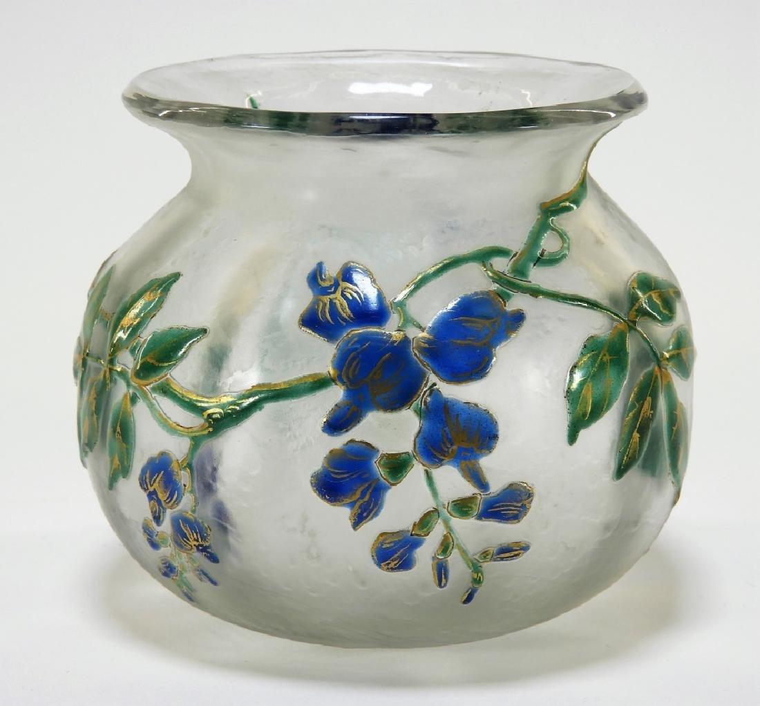 French LeGras St. Denis Cameo Art Glass Vase
