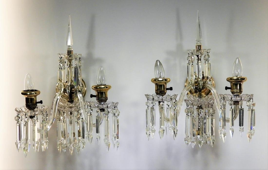 PR Beautiful Brass & Crystal Sconce Lights