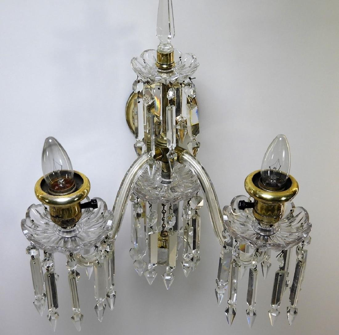 PR Beautiful Brass & Crystal Sconce Lights - 2