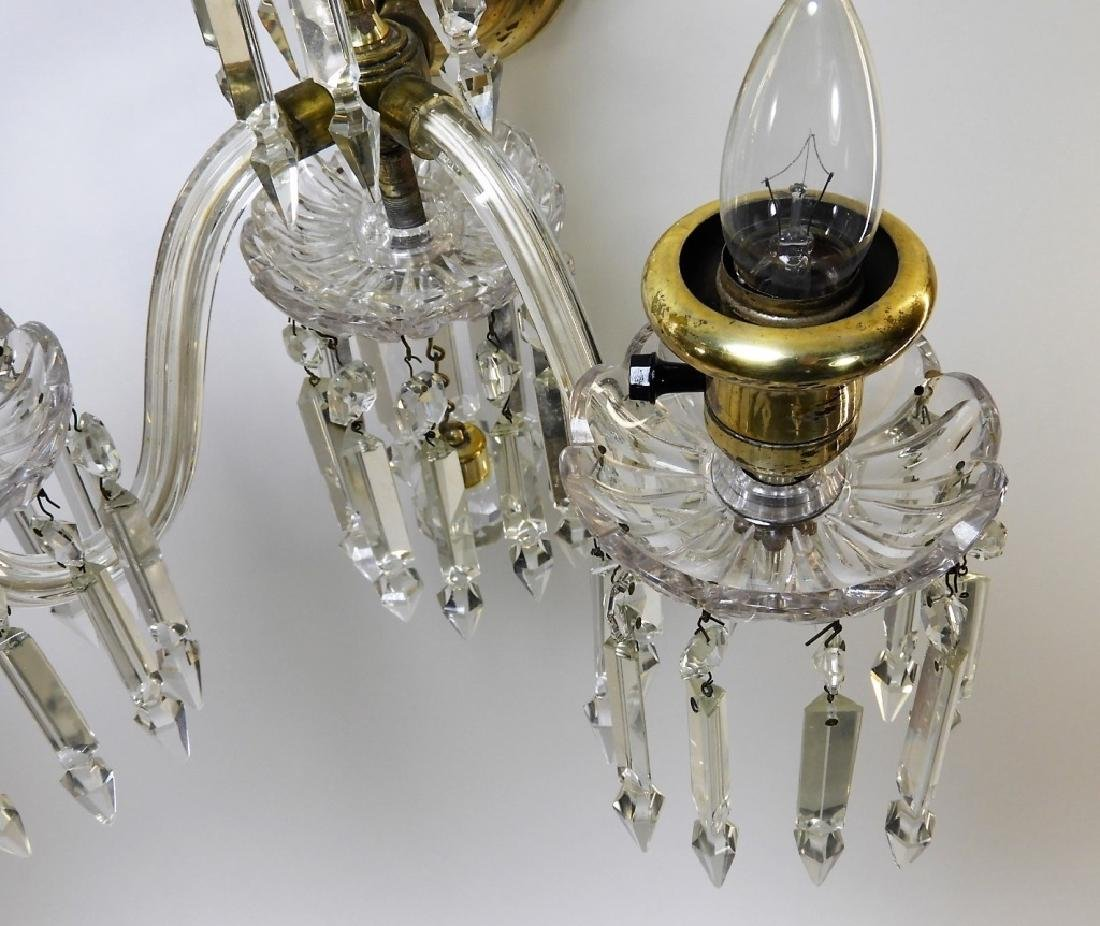 PR Beautiful Brass & Crystal Sconce Lights - 3